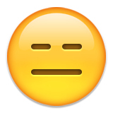 Expressionless Face Emoji (Apple/iOS Version)