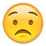 Worried Face Emoji (Apple/iOS Version)
