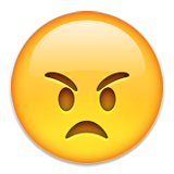 Angry Face Emoji (Apple/iOS Version)