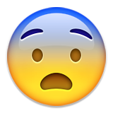 Fearful Face Emoji (Apple/iOS Version)