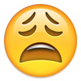 Weary Face Emoji (Apple/iOS Version)