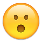 Face With Open Mouth Emoji (Apple/iOS Version)