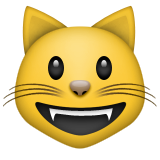 Smiling Cat Face With Open Mouth Emoji (Apple/iOS Version)