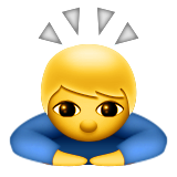Person Bowing Deeply Emoji (Apple/iOS Version)