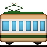 Railway Car Emoji (Apple/iOS Version)