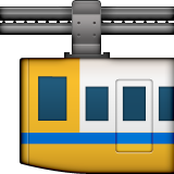 Suspension Railway Emoji (Apple/iOS Version)