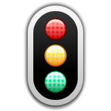 Vertical Traffic Light Emoji (Apple/iOS Version)