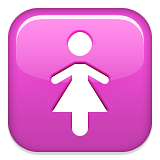 Womens Symbol Emoji (Apple/iOS Version)