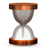 Hourglass With Flowing Sand Emoji (Apple/iOS Version)