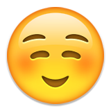 White Smiling Face Emoji (Apple/iOS Version)
