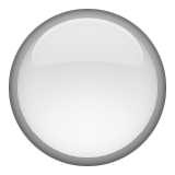 Medium White Circle Emoji (Apple/iOS Version)
