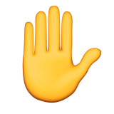 Raised Hand Emoji (Apple/iOS Version)