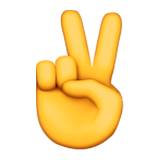 Victory Hand Emoji (Apple/iOS Version)